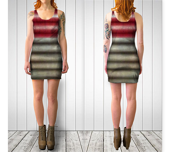 Industrial Wall Fitted Dress - Tru-Artwear.ca