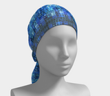 Blue Mosaic Shawl | Wraps | 2 Sizes - Tru-Artwear.ca