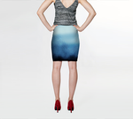Noir Bleu Dusk Fitted Skirt - Tru-Artwear.ca