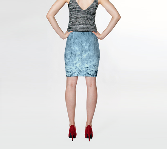 Blue Frost Fitted Skirt - Tru-Artwear.ca