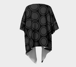 Black and Grey Circles Draped Kimono Cardigan - Tru-Artwear.ca