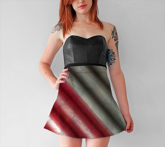 Industrial Wall Diagonal Flare Skirt - Tru-Artwear.ca