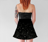 Flowers at Midnight Flare Skirt - Tru-Artwear.ca