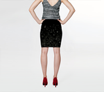 Flowers at Midnight Fitted Skirt - Tru-Artwear.ca
