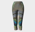 Peacock Feathers Capris