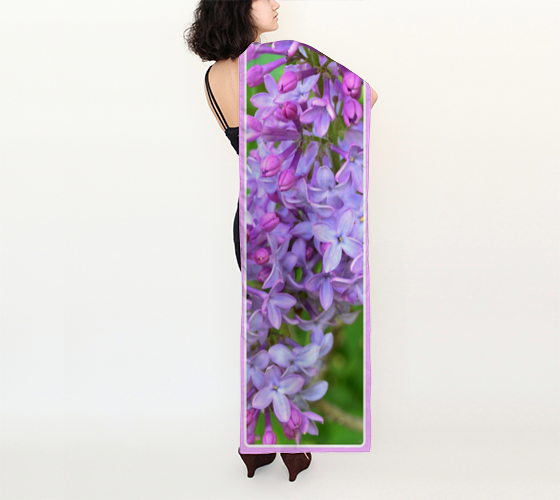 "Shawls | ""Lavender Lilacs"" 