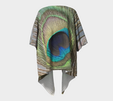 Peacock Feather Draped Kimono Cardigan >