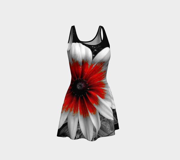 Red Stoke Gaillardia Flare Dress