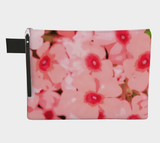Pink Mod Flowers Zipper Carry-All
