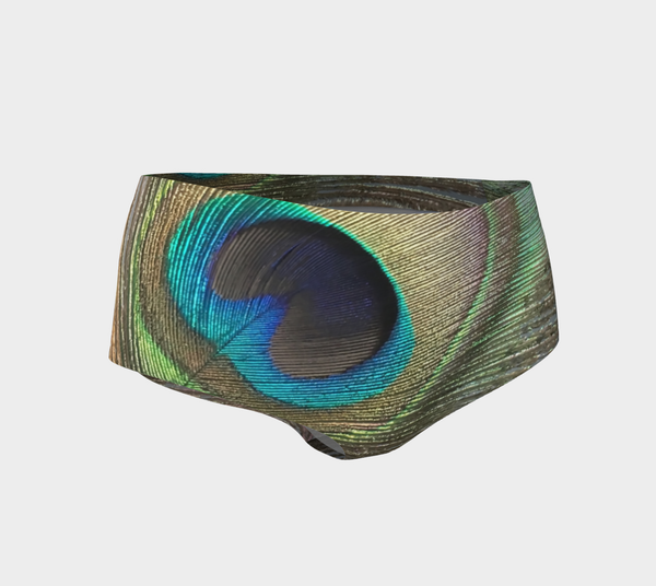 Peacock Feather Mini Shorts