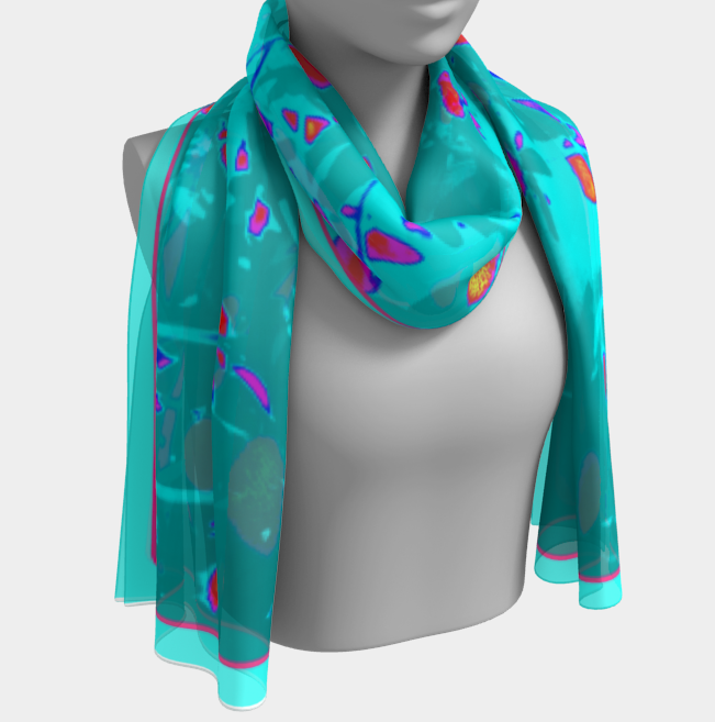 Faerie Garden Shawl | Wraps |  Long Scarf | 2 Sizes - Tru-Artwear.ca