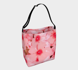 Pink Mod Flowers Neoprene Stretch Tote