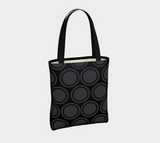 Black and Grey Circles Urban Canvas Tote - Tru-Artwear.ca