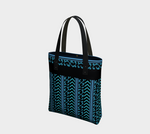 Turquoise and Black Patterned Urban Tote
