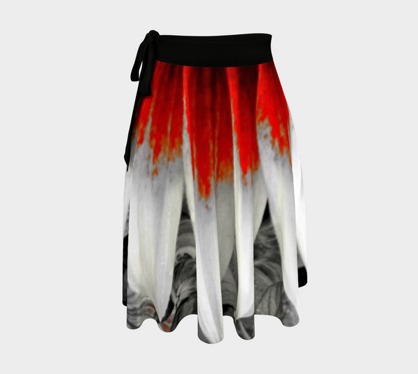 Red Stoke Wrap Skirt