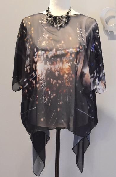 1. 'Urban Reflection' Draped Kimono Cardigan - Tru-Artwear.ca