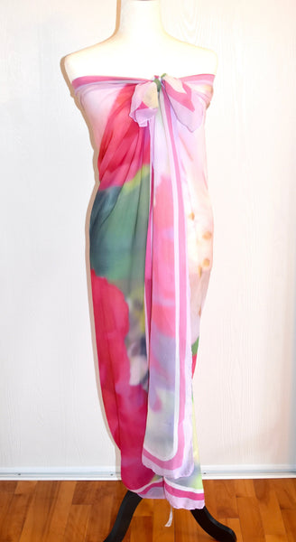'Pink Flower Burst' Fashion Scarf - Tru-Artwear.ca