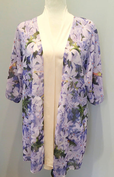 "*""Purple Flox"" Kimono Robe 