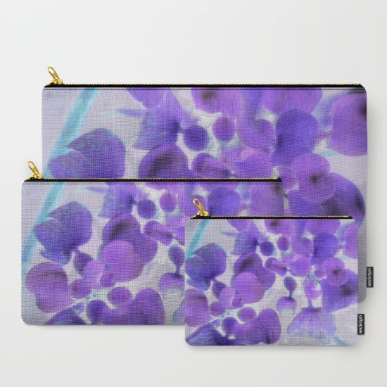 'Purple Water Plant' Travellers Pouch Set | Travel Accessories | Bridal & Honeymoon Travel Set** - Tru-Artwear.ca