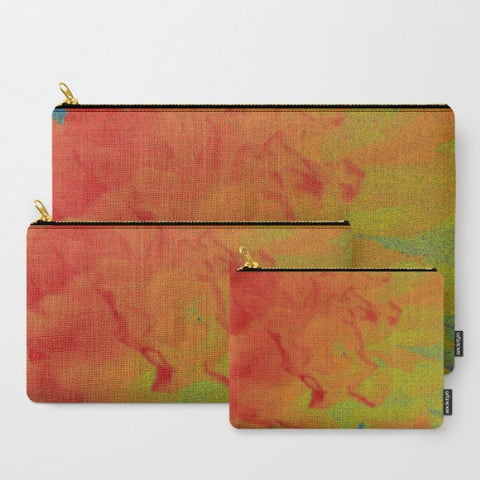 'Red Flower Abstract' Travel Pouch Set - Tru-Artwear.ca