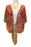 'Red Trees Canada' Draped Kimono Cardigan - Tru-Artwear.ca