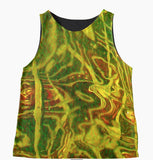 Green Water Abstract Sleeveless Top - Tru-Artwear.ca