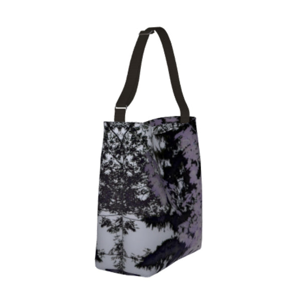 Purple Trees Silhouette Landscape Day Tote - Tru-Artwear.ca