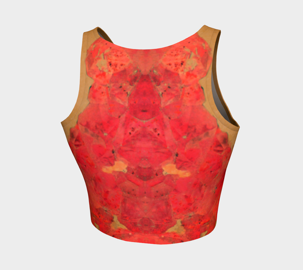 2 - Vintage Red Amethyst Athletic Crop Tank - Tru-Artwear.ca
