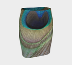 Peacock Feather Fitted Skirt