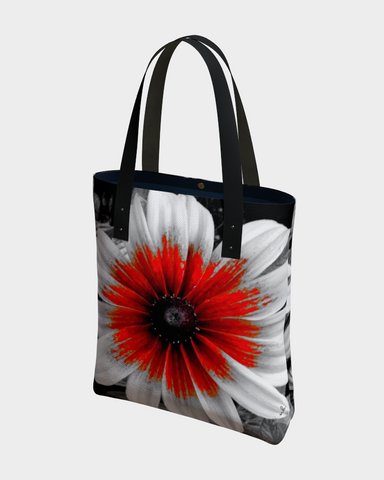 """1. - Red Stoke"" Urban Canvas Tote > - Tru-Artwear.ca"