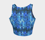 Blue Mosaic Crop Top - Tru-Artwear.ca