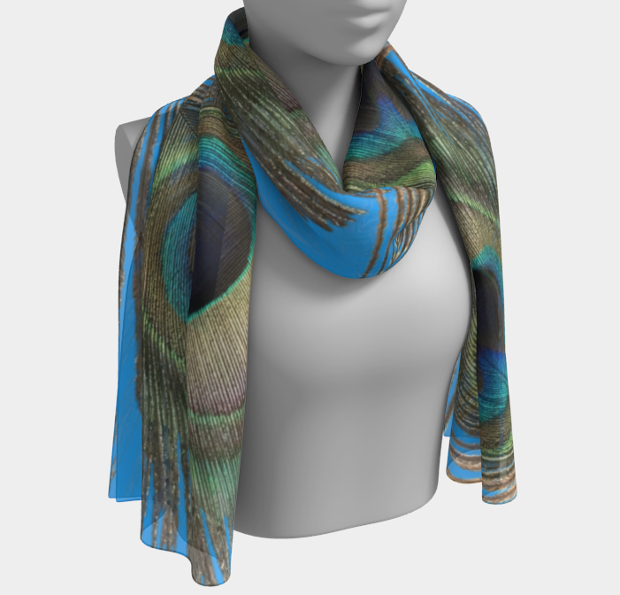 Peacock Feather Shawl | Wraps | 2 Sizes