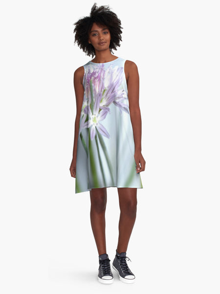 '1. Lavender Chive' A-Line Limited Edition Summer Dress - Tru-Artwear.ca