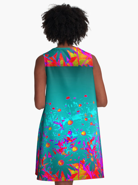 'Faerie Garden' A-Line Limited Edition Summer Dress - Tru-Artwear.ca