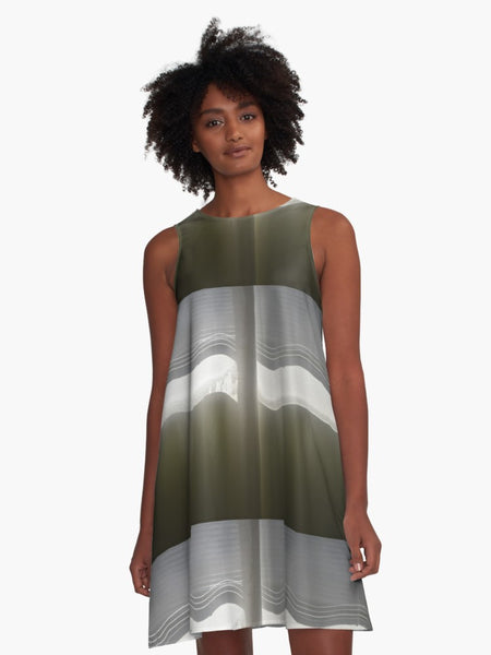 'Through the Curtains' A-Line Fair Weather Dress - Tru-Artwear.ca