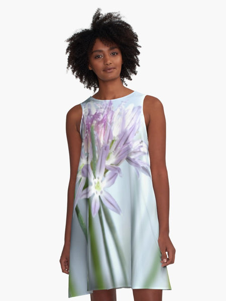 'Lavender Chive' A-Line Fair Weather Dress - Tru-Artwear.ca