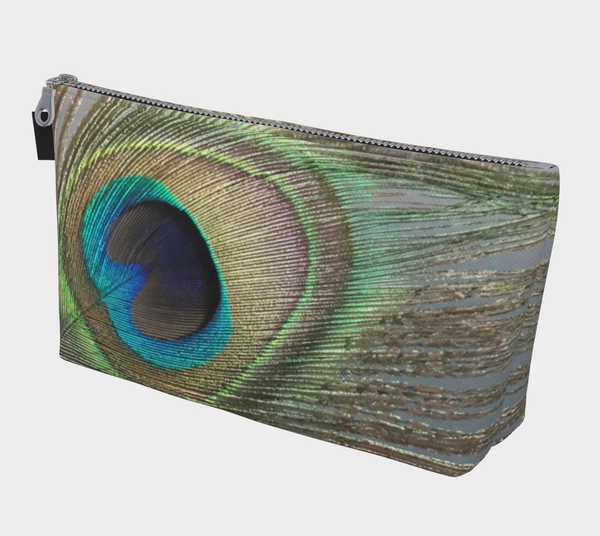 Peacock Feather Makeup Bag