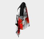 """1 - Red and Black Stoke"" Draped Kimono Cardigan - Tru-Artwear.ca"