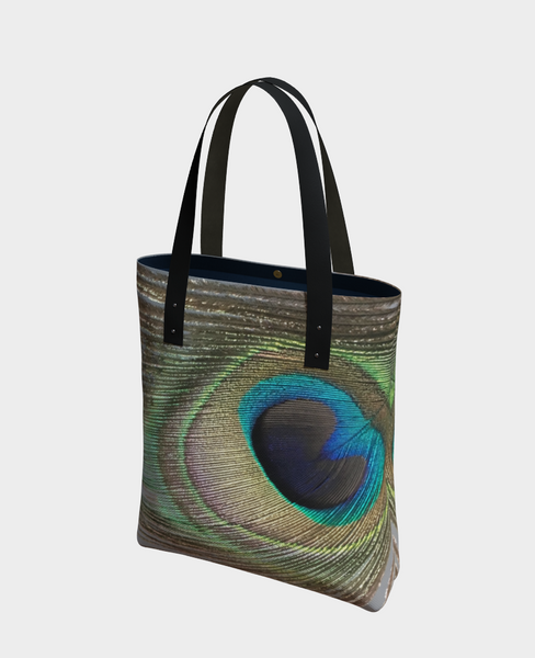 """1 - Peacock Feather"" Urban Tote - Tru-Artwear.ca"