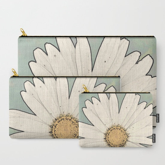 '1. Big White Daisy' Travel Pouch Set - Tru-Artwear.ca