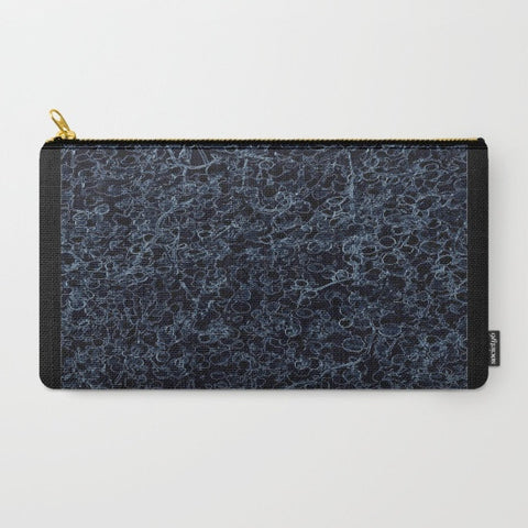 Black and Blue Vine Makeup Bag - Tru-Artwear.ca