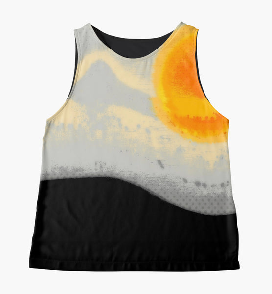 Bright Sunset with Dots Limited Edition Sleeveless Top - Tru-Artwear.ca