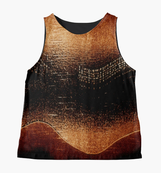 Amber* Northern Lights Limited Edition Sleeveless Top: Made to Order - Tru-Artwear.ca
