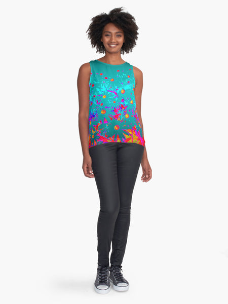 Faerie Garden Limited Edition Sleeveless Top - Tru-Artwear.ca