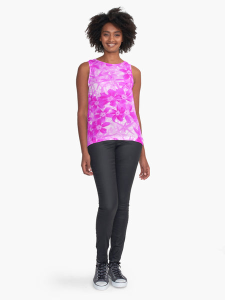 Pink Flox Limited Edition Sleeveless Top - Tru-Artwear.ca