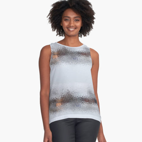 Canadian Ice Landscape Sleeveless Top - Tru-Artwear.ca