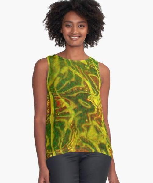 Abstract Water Limited Edition Sleeveless Top - Tru-Artwear.ca