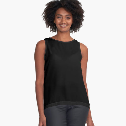 Solid Black Limited Edition Sleeveless Top - Tru-Artwear.ca