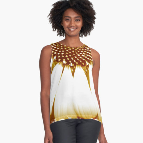 Mod Gaillardia Limited Edition Sleeveless Top - Tru-Artwear.ca