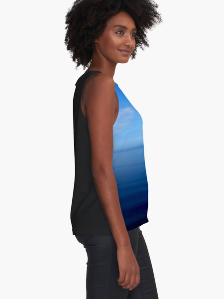 Where Water Meets Sky Limited Edition Sleeveless Top - Tru-Artwear.ca